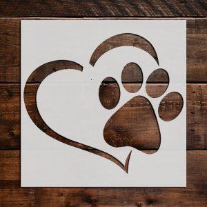 Paw Prints Stencils